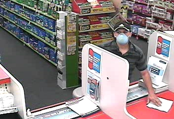 Suspect at Pharmacy recovering note