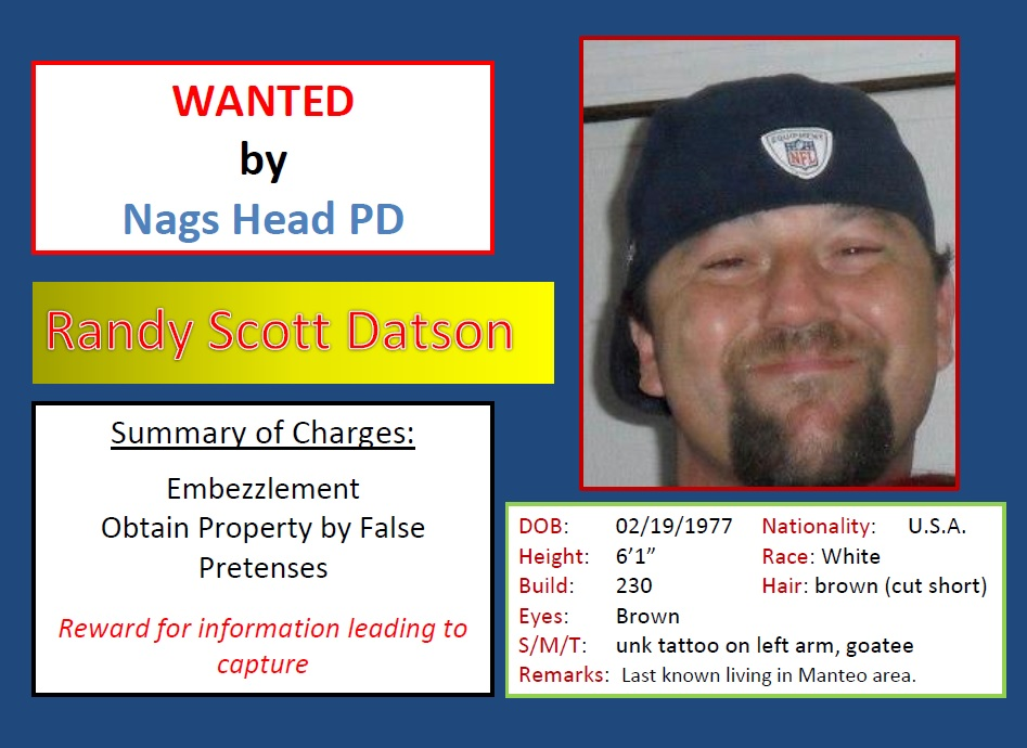 Randy Scott Datson Wanted Poster